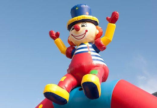 Clown super springkussen overdekt kopen met vrolijke animaties voor kinderen. Koop springkussens online bij JB Inflatables Nederland