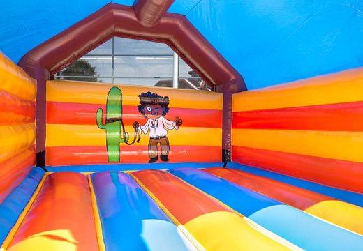 Super springkussen overdekt kopen in cowboy thema voor kinderen. Bestel springkussen online bij JB Inflatables Nederland