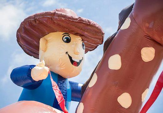 Super springkasteel overdekt kopen met vrolijke animaties in cowboy thema voor kinderen. Koop springkastelen online bij JB Inflatables Nederland