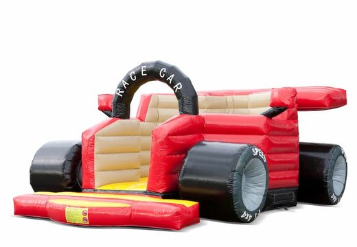 Uniek F1 auto springkussen  kopen voor kinderen. Bestel springkussens online bij JB Inflatables Nederland