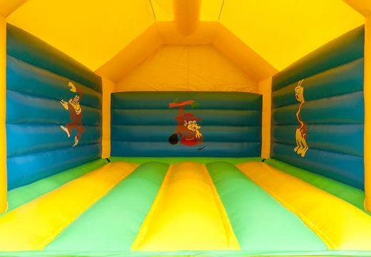 Groot giraffe super springkasteel overdekt kopen met vrolijke animaties voor kinderen. Koop springkastelen online bij JB Inflatables Nederland