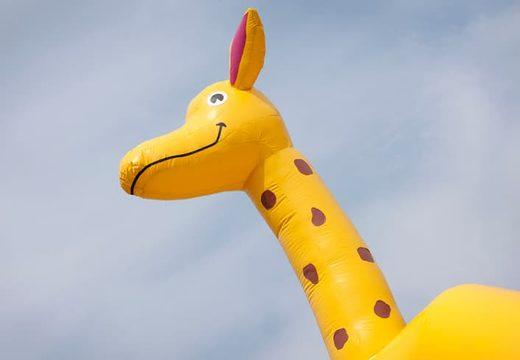 Groot luchtkussen overdekt kopen in giraffe thema voor kinderen. Koop luchtkussens online bij JB Inflatables Nederland