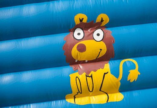 Super springkasteel overdekt kopen met vrolijke animaties in giraffe thema voor kinderen. Koop springkastelen online bij JB Inflatables Nederland