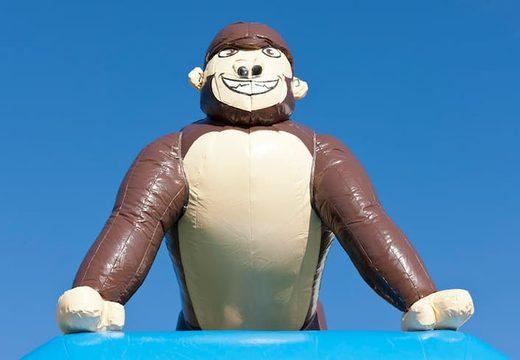 Groot overdekt luchtkussen kopen in thema gorilla in jungle voor kinderen. Bestel luchtkussens online bij JB Inflatables Nederland