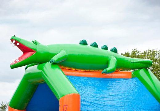 Groot luchtkussen overdekt kopen in krokodil thema voor kinderen. Koop luchtkussens online bij JB Inflatables Nederland