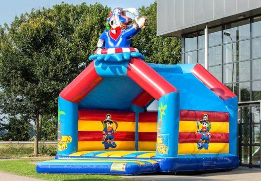 Super springkussen overdekt kopen in piraat thema voor kinderen. Koop springkussen online bij JB Inflatables Nederland
