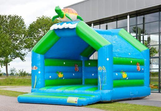 Super springkussen overdekt kopen in schildpad thema voor kinderen. Koop springkussen online bij JB Inflatables Nederland