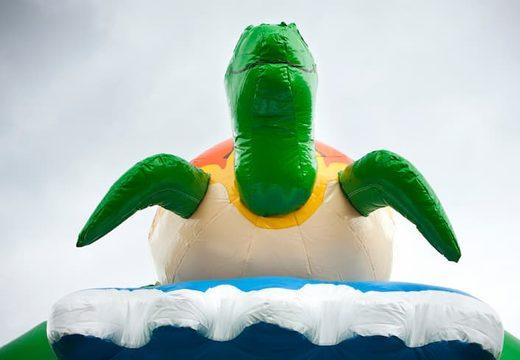 Super springkasteel overdekt kopen met vrolijke animaties in schildpad thema voor kinderen. Bestel springkastelen online bij JB Inflatables Nederland