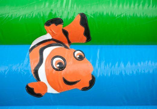 Groot springkussen overdekt kopen met vrolijke animaties in schildpad thema voor kinderen. Bestel springkussens online bij JB Inflatables Nederland