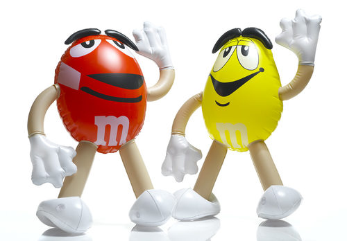 mini inflatables M&M