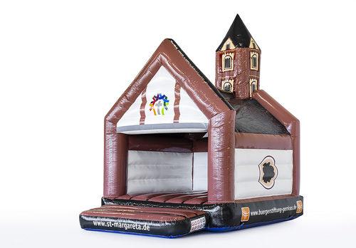 Op maat gemaakte ST. MARGARETA - a frame kerk springkussen in eigen huisstijl bestellen bij JB Inflatables Nederland. Promotionele springkussens in alle soorten en maten razendsnel op maat gemaakt