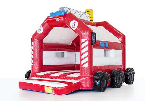 Gepersonaliseerde jeugdbrandweer - a frame brandweer springkussen met 3D laten maken bij JB Promotions Nederland. Promotionele springkussens in alle soorten en maten razendsnel op maat gemaakt