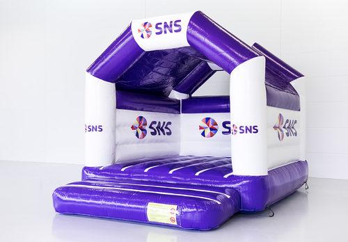 Bestel online opblaasbare SNS BANK - a frame springkussens op maat bij JB Promotions Nederland; specialist in opblaasbare reclame artikelen zoals maatwerk springkastelen