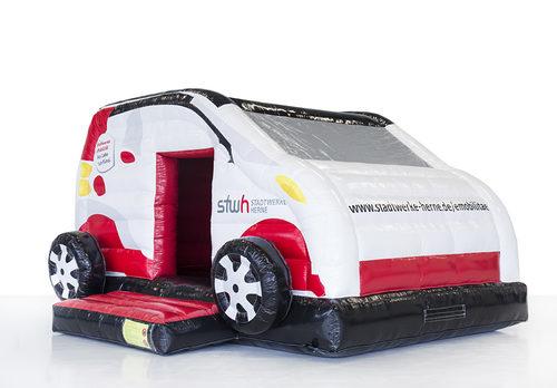 Bestel online opblaasbare Stadtwerke Herne - auto springkussen op maat bij JB Promotions Nederland; specialist in opblaasbare reclame artikelen zoals maatwerk indoor springkussens