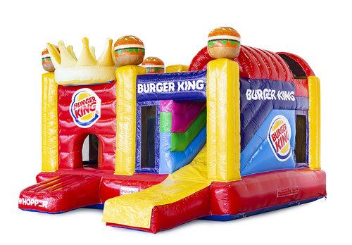 Gepersonaliseerde Burger king multiplay springkussen  inclusief 3D, logo's van de klant in eigen huisstijl laten maken bij JB Promotions Nederland. Bestel nu online promotionele springkussens in alle soorten en maten