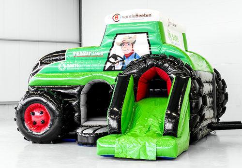 Koop online opblaasbare Boomkwekerij Smits -  tractor springkussen voor jong en oud op maat bij JB Promotions Nederland. Gratis ontwerp voor opblaasbare luchtkussens in eigen huisstijl