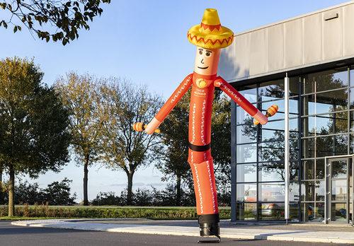 Bestel online de opblaasbare 6 meter hoge Taco Mundo 3D skydancer op maat bij JB Promotions Nederland; specialist in opblaasbare reclame artikelen zoals inflatable tubes