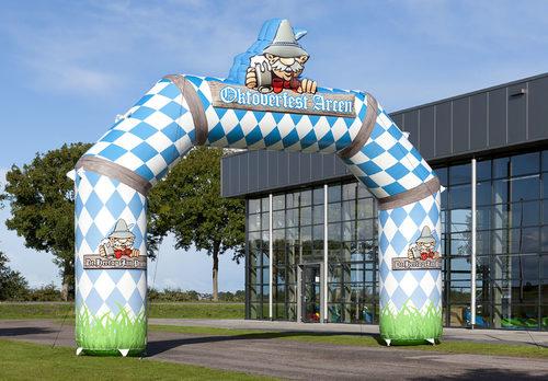 Koop maatwerk opblaasbare oktoberfest reclameboog voor promoties bij JB Inflatables Nederland online.  Bestel nu op maat gemaakte opblaasbare reclamebogen
