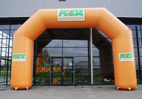 Op maat gemaakte opblaasbare start & finishboog te koop bij JB Promotions Nederland. Vraag nu gratis ontwerp aan voor poiesz reclameboog