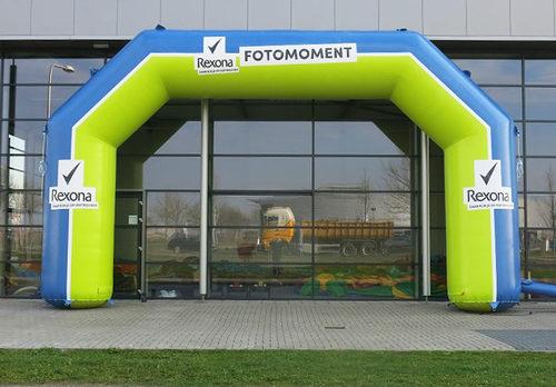 Op maat gemaakte gepersonaliseerde rexona opblaasbare start & finishboog kopen bij JB Promotions Nederland. Reclamebogen in alle soorten en maten razendsnel op maat gemaakt