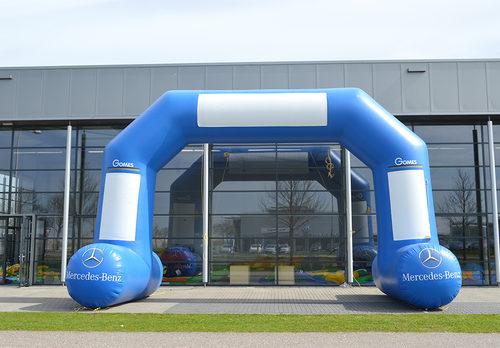 Op maat gemaakte mercedes benz opblaasbare start & finishboog kopen bij JB Promotions Nederland. Vraag nu gratis ontwerp aan voor reclamebogen