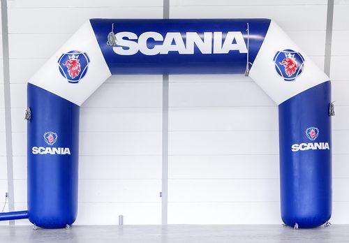 Bestel scania opblaasbare start & finishboog online bij JB Inflatables Nederland. Koop nu gepersonaliseerde reclamebogen bij JB Inflatables online