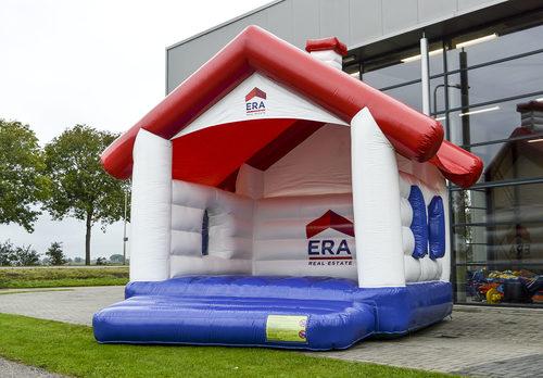 Bestel nu complete op maat gemaakte Era Real Estate - a frame huisje springkussen in uw geven kleuren en logo bij JB Promotions Nederland. Maatwerk opblaasbare reclame springkussens in verschillende soorten en maten te koop