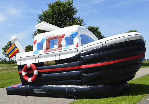 Maatwerk De Belter schip springkussen geschikt voor promotionele doeleinden. Bestel op maat gemaakte luchtkussens bij JB Promotions Nederland