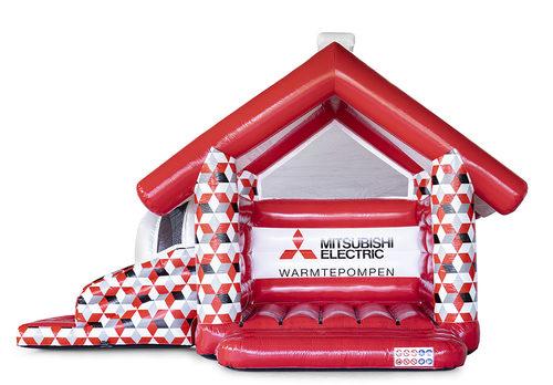 Promotionele op maat gemaakte Mitsubishi Multifun springkussen kopen. Bestel nu opblaasbare reclame springkussens in eigen huisstijl bij JB Inflatables Nederland
