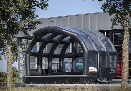 Inflatable trailer stage